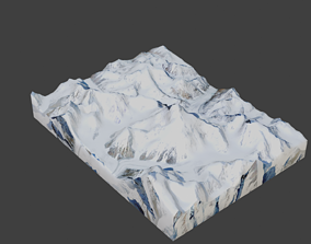 K2 Mountain 3D model