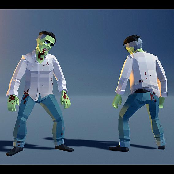 Polygonal Zombie 09