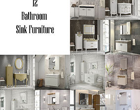 Bathroom Furniture - Sink Vol - 1 3D asset