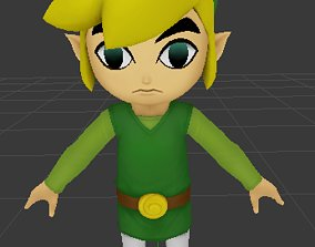 3D model rigged Toon link