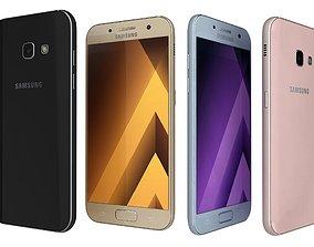 3D Samsung Galaxy A3 2017 All Colors