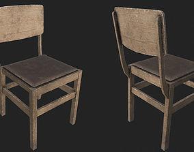 3D asset Old Wooden Chair 2 PBR