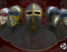 Medieval Bascinet Splitvisor 3D asset
