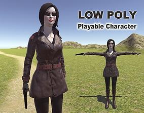 3D asset Spy Woman
