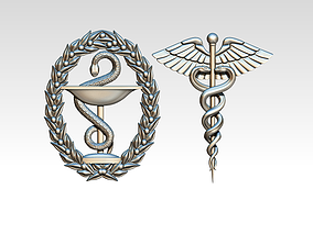 Medical symbol logo 3D printable model