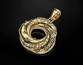 3D printable model Interlocking circle necklace