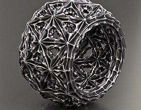 Gothic thistle ring 3D print model