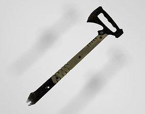 3D model Tactical tomahawk with crowbar