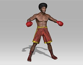 Boxer Male 3D model rigged