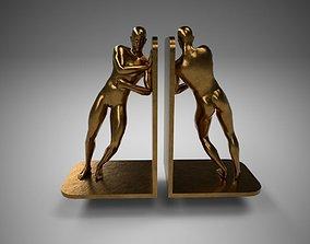 Bronze Bookends Pose2 3D model