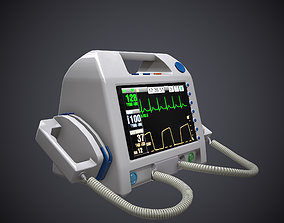 3D model Low-poly Defibrillator