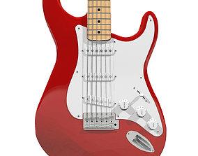 Guitar Fender Stratocaster Red Finish stratocaster 3D