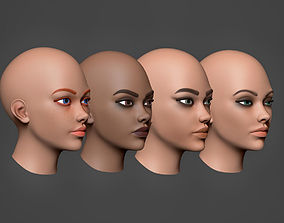 3D model Woman Head Collection