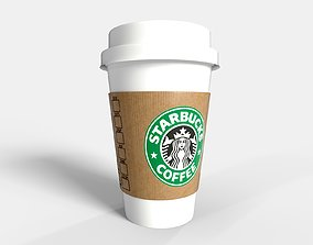 PBR Starbucks Coffee Cup - PROMOTION 3D asset