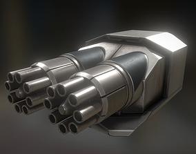 Gatling Gun Module 3D asset