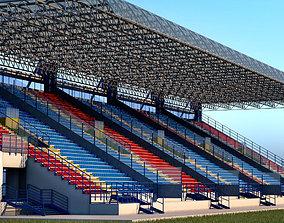 3D model Stadium Sport Soccer Tribune High detail