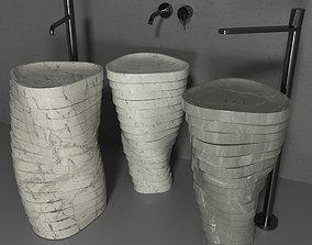 Una forza washbasin 3D asset