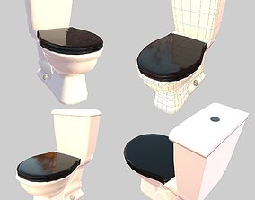3D model Closed Toilet Game Ready