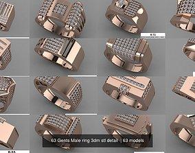 63 Gents Male ring 3dm stl detail