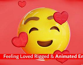 3D asset Feeling Loved Animated Emoji