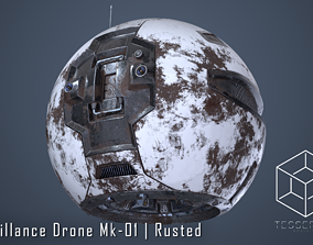 3D Surveillance Drone Mk1 Rusted