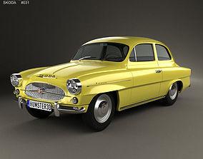 3D model Skoda Octavia 1959