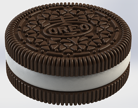 Detailed Oreo Box 3D print model cookie