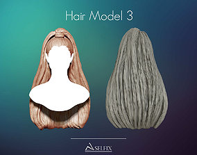 sculptures Hairstyle model 03