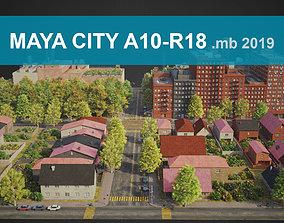 City District A10-R18 MAYA 3D model