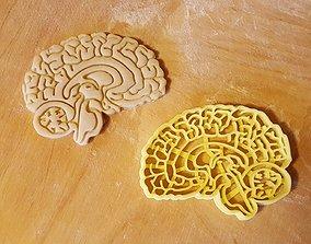 3D printable model Brain cookie cutter