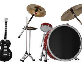 3D model Drum - Guitar