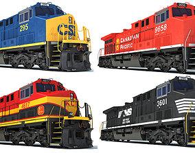 railroad Locomotive 3D Models
