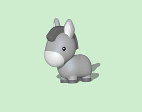 3D print model Cute Donkey