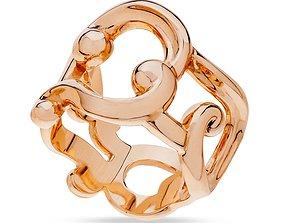 gold 3D print model Replica ring