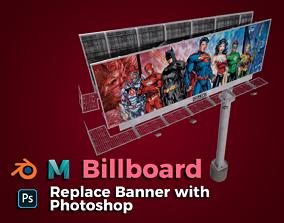3D asset Billboard 01 - Power Poles