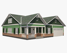 Traditional House 09 3D model game-ready