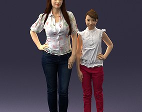 Mom and daughter 0026 3D Print Ready