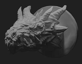 Dragon head trophy 3D printable model