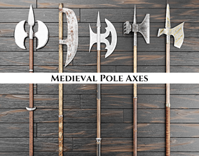 Medieval Pole Axes 3D model