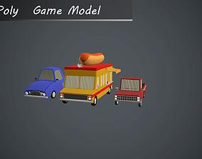 Cars LowPoly 3D asset