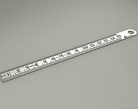Steel Ruler 3D model