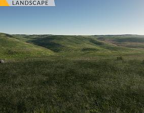 3D asset Plain Landscape