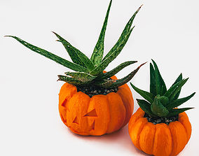 Pumpkin Planter - Halloween Planter - 3D printable model 3