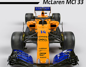 F1 McLaren mcl33 2018 3D realtime