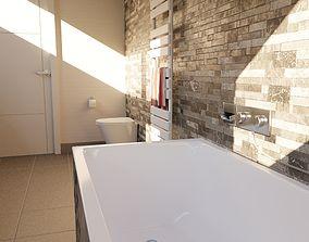 3D PBR Bathroom scene