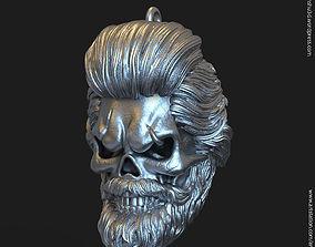 3D printable model Skull bearded vol1 Pendant