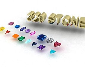 3D print model a Package of 320 Stones all shapes and 3