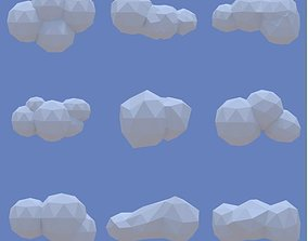 3D model Low Poly Clouds Pack