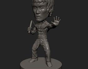 Bruce Lee cartoon statue 3D printable model