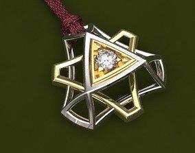 Go diamond pendant - original 3D printable model